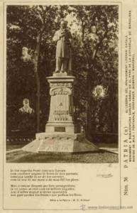 Monumento en el Parque de la Ciudadela de Barcelona a Carles Aribau